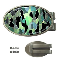 Wallpaper Background With Lighted Pattern Money Clips (Oval)