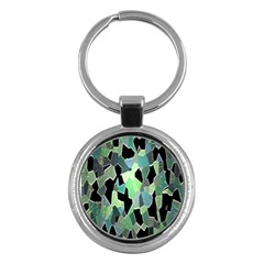 Wallpaper Background With Lighted Pattern Key Chains (Round)
