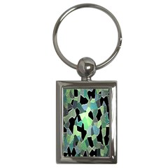 Wallpaper Background With Lighted Pattern Key Chains (rectangle)