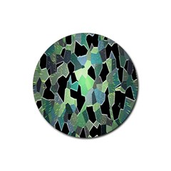 Wallpaper Background With Lighted Pattern Rubber Coaster (Round)
