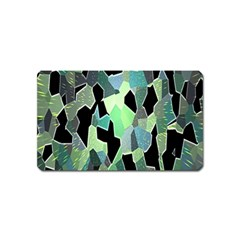 Wallpaper Background With Lighted Pattern Magnet (name Card)
