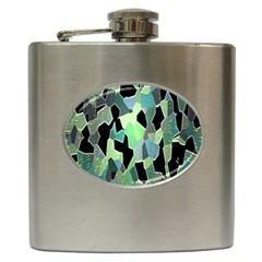 Wallpaper Background With Lighted Pattern Hip Flask (6 Oz)