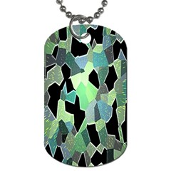 Wallpaper Background With Lighted Pattern Dog Tag (two Sides)
