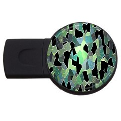 Wallpaper Background With Lighted Pattern USB Flash Drive Round (1 GB)