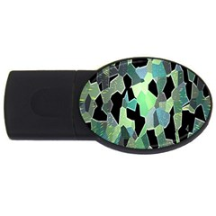 Wallpaper Background With Lighted Pattern USB Flash Drive Oval (1 GB)