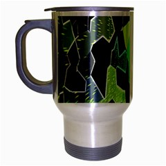Wallpaper Background With Lighted Pattern Travel Mug (Silver Gray)