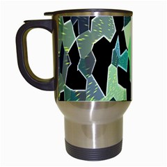 Wallpaper Background With Lighted Pattern Travel Mugs (White)