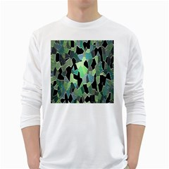 Wallpaper Background With Lighted Pattern White Long Sleeve T Shirts