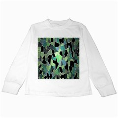 Wallpaper Background With Lighted Pattern Kids Long Sleeve T Shirts