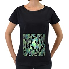 Wallpaper Background With Lighted Pattern Women s Loose-Fit T-Shirt (Black)