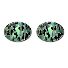 Wallpaper Background With Lighted Pattern Cufflinks (oval)