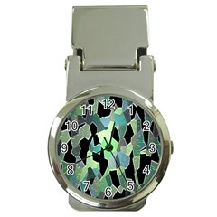Wallpaper Background With Lighted Pattern Money Clip Watches
