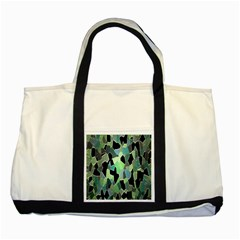 Wallpaper Background With Lighted Pattern Two Tone Tote Bag