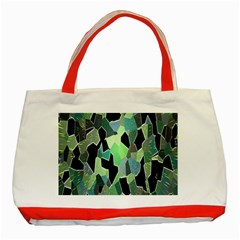 Wallpaper Background With Lighted Pattern Classic Tote Bag (Red)