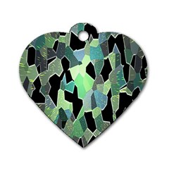 Wallpaper Background With Lighted Pattern Dog Tag Heart (Two Sides)