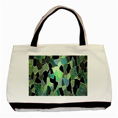 Wallpaper Background With Lighted Pattern Basic Tote Bag (two Sides)