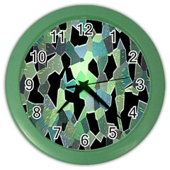 Wallpaper Background With Lighted Pattern Color Wall Clocks