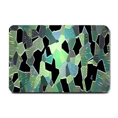 Wallpaper Background With Lighted Pattern Small Doormat
