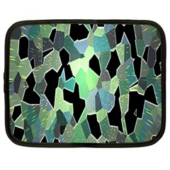 Wallpaper Background With Lighted Pattern Netbook Case (Large)