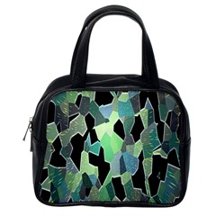 Wallpaper Background With Lighted Pattern Classic Handbags (one Side)