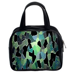 Wallpaper Background With Lighted Pattern Classic Handbags (2 Sides)