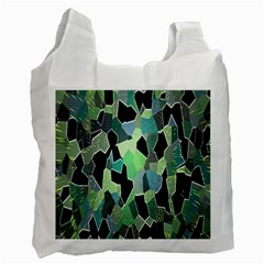 Wallpaper Background With Lighted Pattern Recycle Bag (One Side)