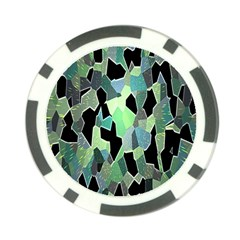 Wallpaper Background With Lighted Pattern Poker Chip Card Guard (10 pack)