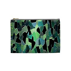 Wallpaper Background With Lighted Pattern Cosmetic Bag (Medium)