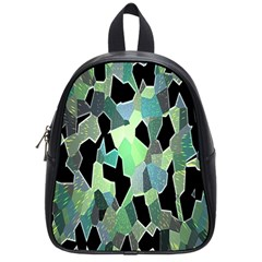 Wallpaper Background With Lighted Pattern School Bags (Small)