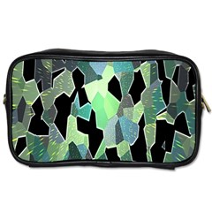 Wallpaper Background With Lighted Pattern Toiletries Bags