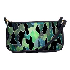 Wallpaper Background With Lighted Pattern Shoulder Clutch Bags