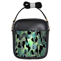 Wallpaper Background With Lighted Pattern Girls Sling Bags