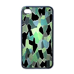 Wallpaper Background With Lighted Pattern Apple iPhone 4 Case (Black)