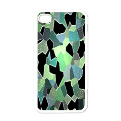 Wallpaper Background With Lighted Pattern Apple iPhone 4 Case (White)