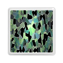 Wallpaper Background With Lighted Pattern Memory Card Reader (Square)
