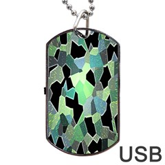 Wallpaper Background With Lighted Pattern Dog Tag USB Flash (One Side)