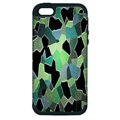 Wallpaper Background With Lighted Pattern Apple Iphone 5 Hardshell Case (pc+silicone)