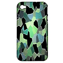 Wallpaper Background With Lighted Pattern Apple Iphone 4/4s Hardshell Case (pc+silicone)