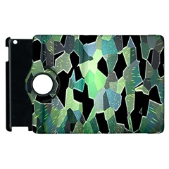 Wallpaper Background With Lighted Pattern Apple iPad 2 Flip 360 Case