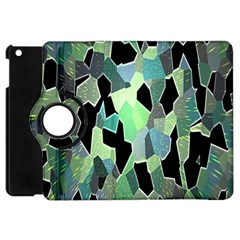 Wallpaper Background With Lighted Pattern Apple iPad Mini Flip 360 Case