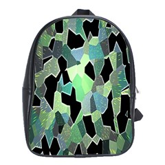 Wallpaper Background With Lighted Pattern School Bags (xl)