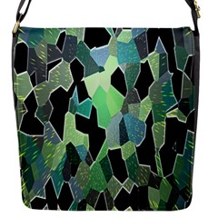 Wallpaper Background With Lighted Pattern Flap Messenger Bag (s)
