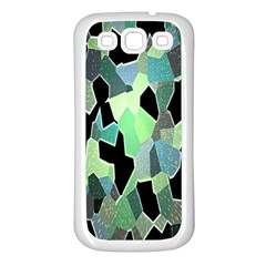Wallpaper Background With Lighted Pattern Samsung Galaxy S3 Back Case (white)