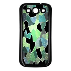 Wallpaper Background With Lighted Pattern Samsung Galaxy S3 Back Case (black)