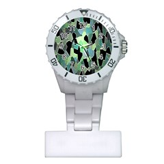 Wallpaper Background With Lighted Pattern Plastic Nurses Watch