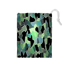Wallpaper Background With Lighted Pattern Drawstring Pouches (medium)