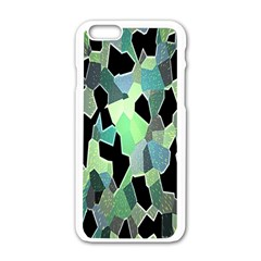 Wallpaper Background With Lighted Pattern Apple Iphone 6/6s White Enamel Case