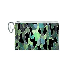 Wallpaper Background With Lighted Pattern Canvas Cosmetic Bag (S)