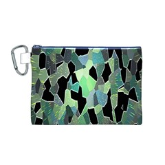 Wallpaper Background With Lighted Pattern Canvas Cosmetic Bag (M)