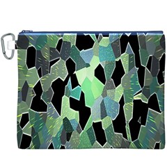 Wallpaper Background With Lighted Pattern Canvas Cosmetic Bag (XXXL)